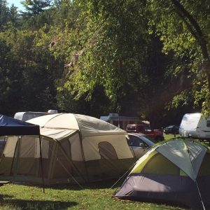 tent camping in Slade KY